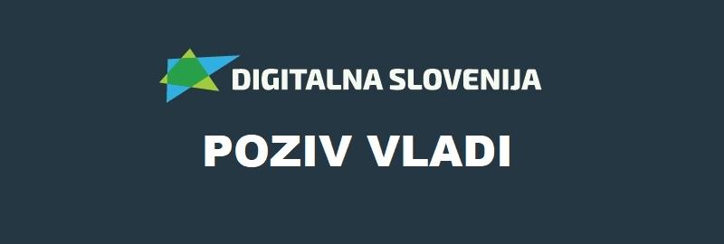 Poziv vladi RS za digitalizacijo Slovenije