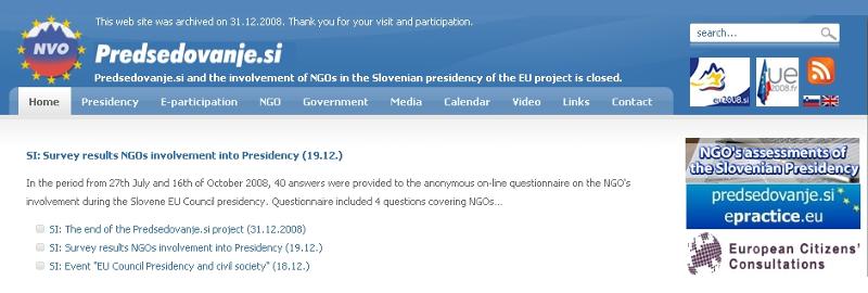 (Ne)vključevanje nevladnih organizacij v predsedovanje Slovenije Svetu EU