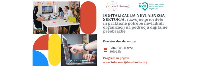 Vabilo: posvetovalna delavnica Digitalizacija nevladnega sektorja