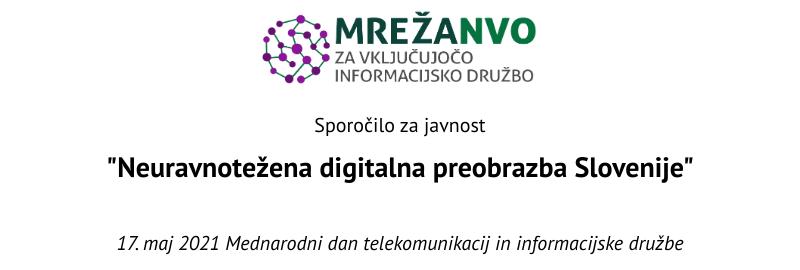 Neuravnotežena digitalna preobrazba Slovenije